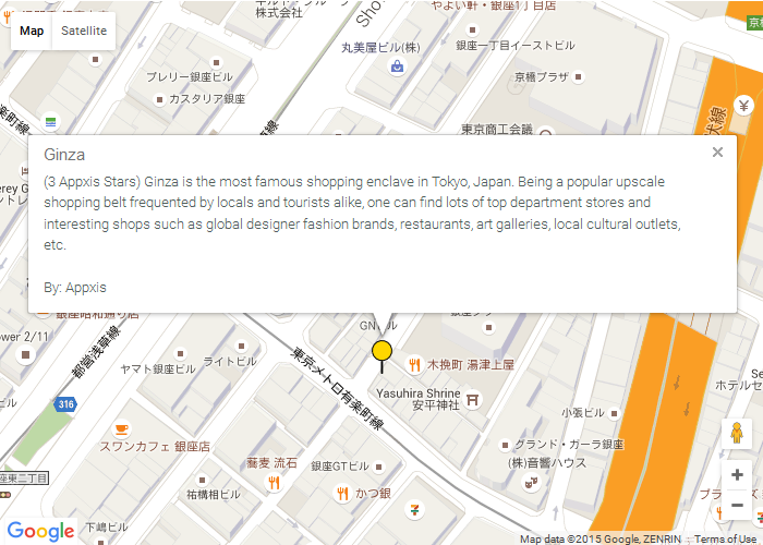 Appxis helps people find interesting map news/information such as the most popular shopping belts, exciting happenings, major news/incidents and major earthquakes easily at the glance of a realtime map